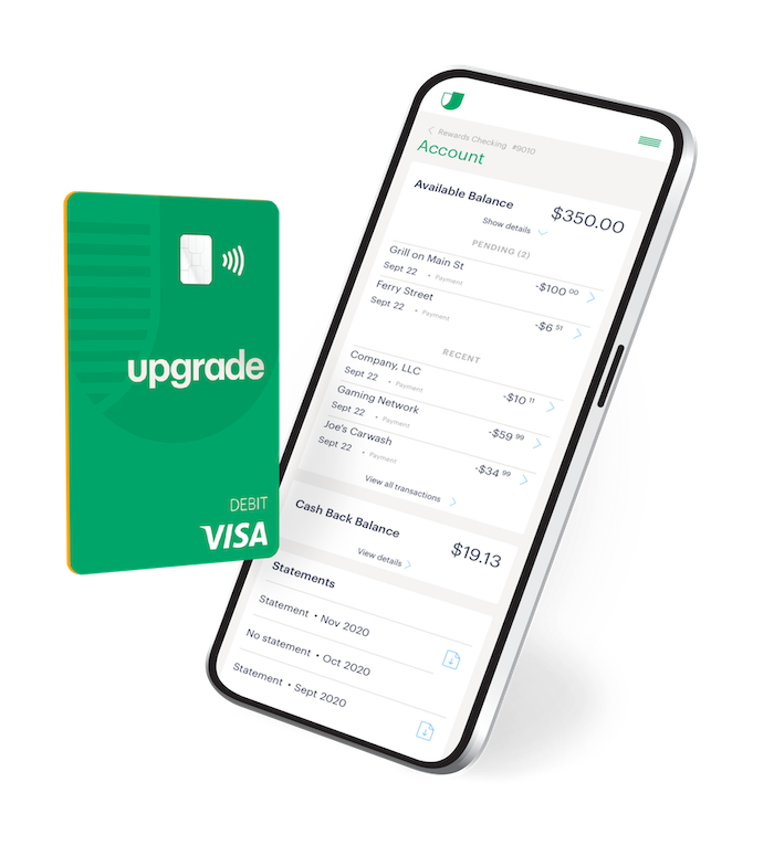 Upgrade Rewards Checking debit card and mobile app